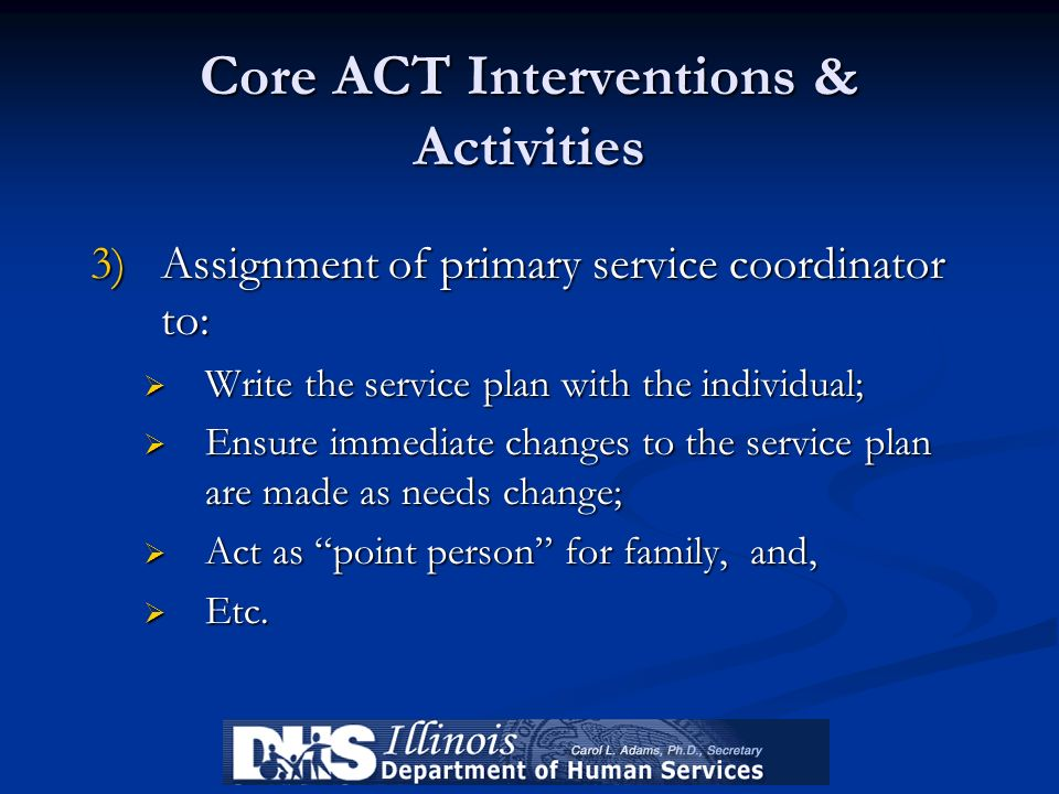 Core ACT Interventions & Activities