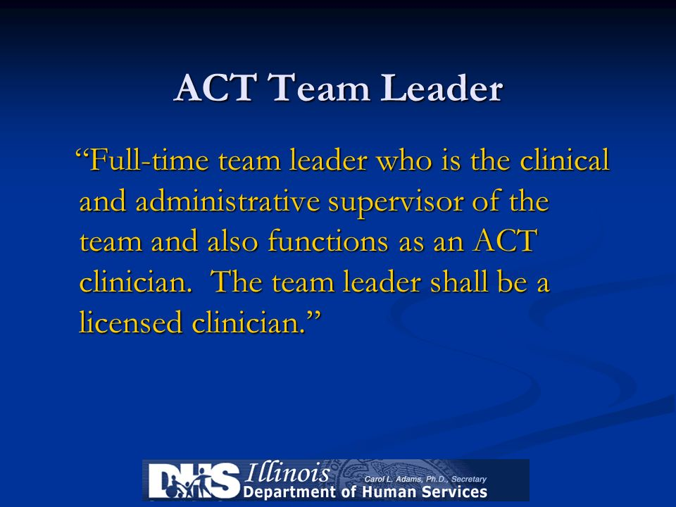 ACT Team Leader