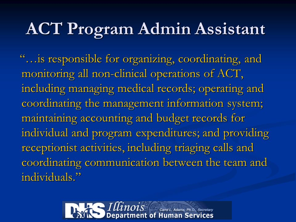 ACT Program Admin Assistant
