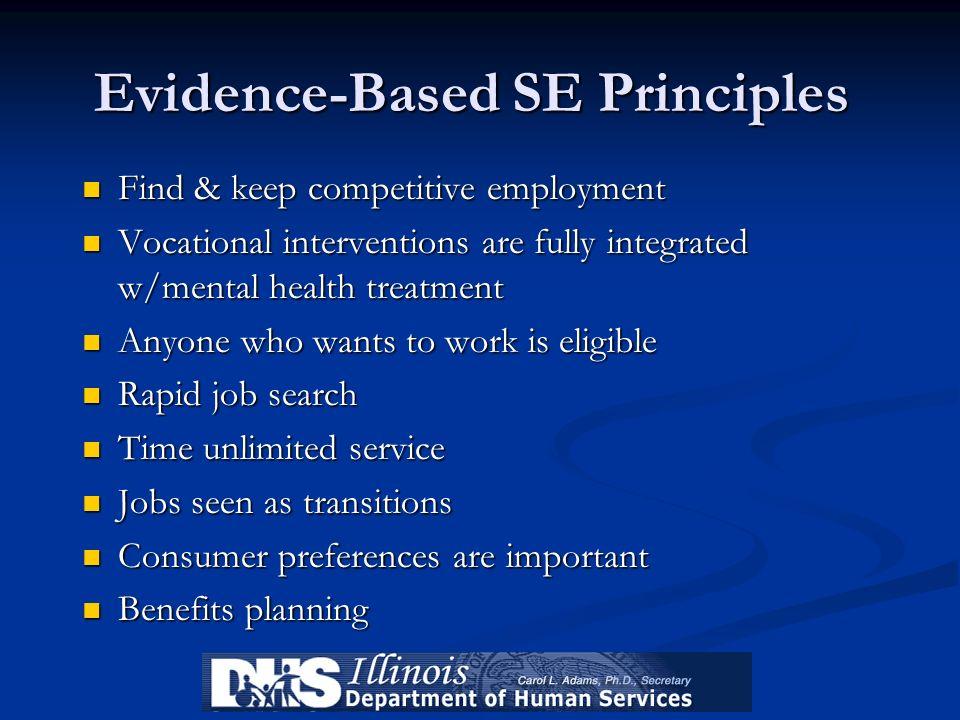 Evidence-Based SE Principles