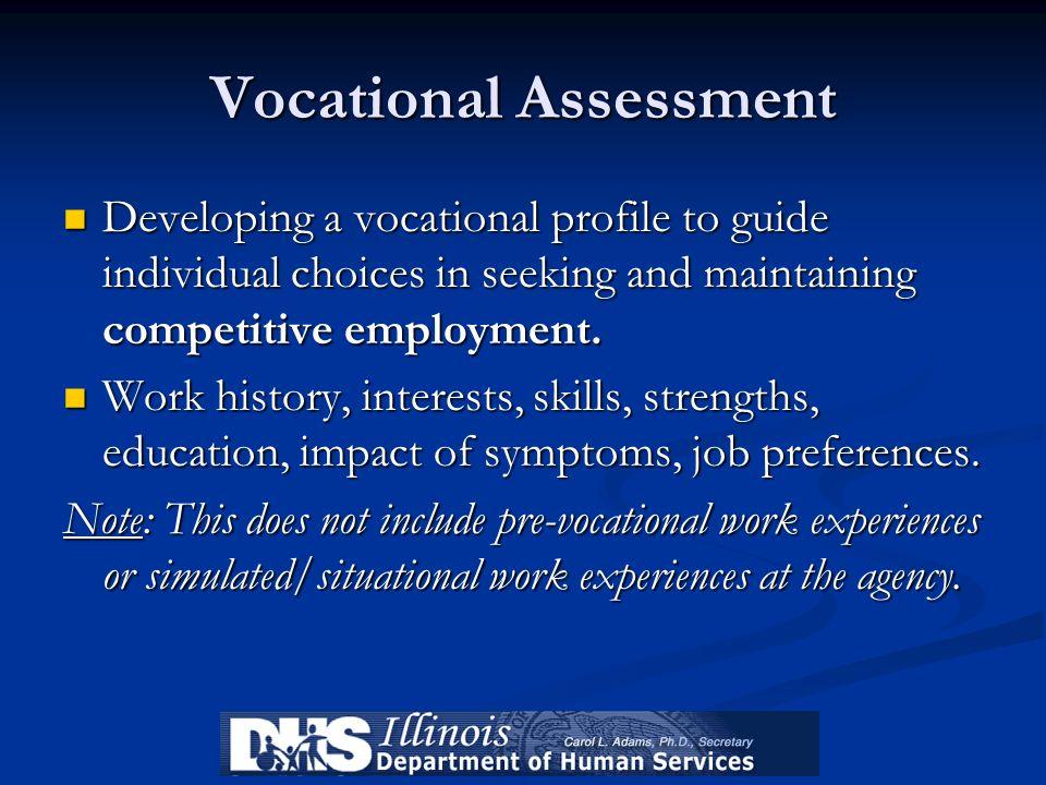 Vocational Assessment