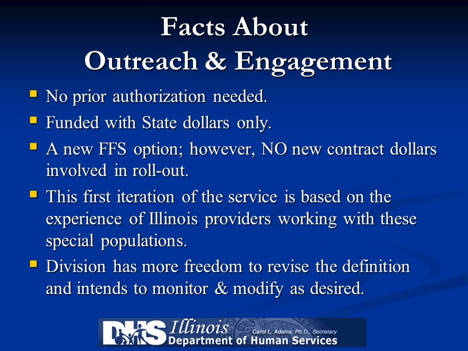 Facts About Outreach & Engagement