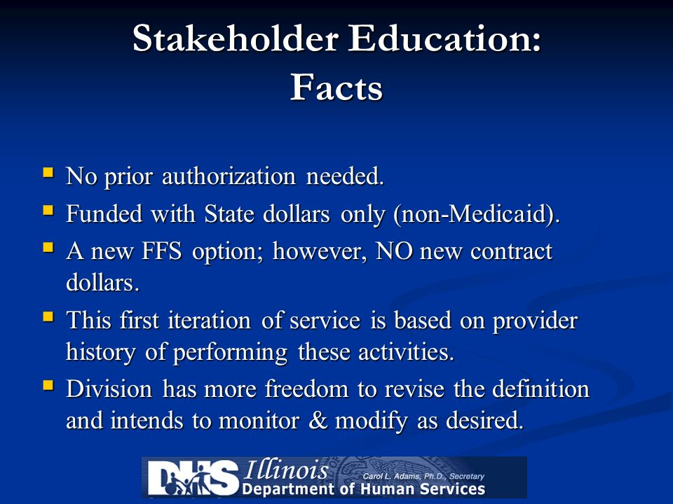 Stakeholder Education: Facts