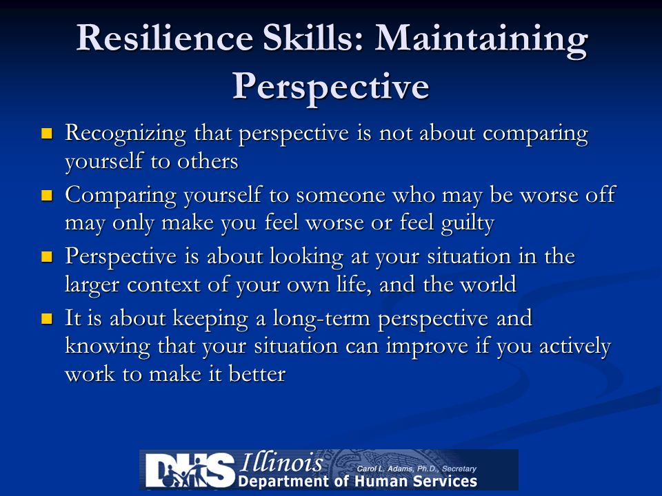 Resilience Skills: Maintaining Perspective
