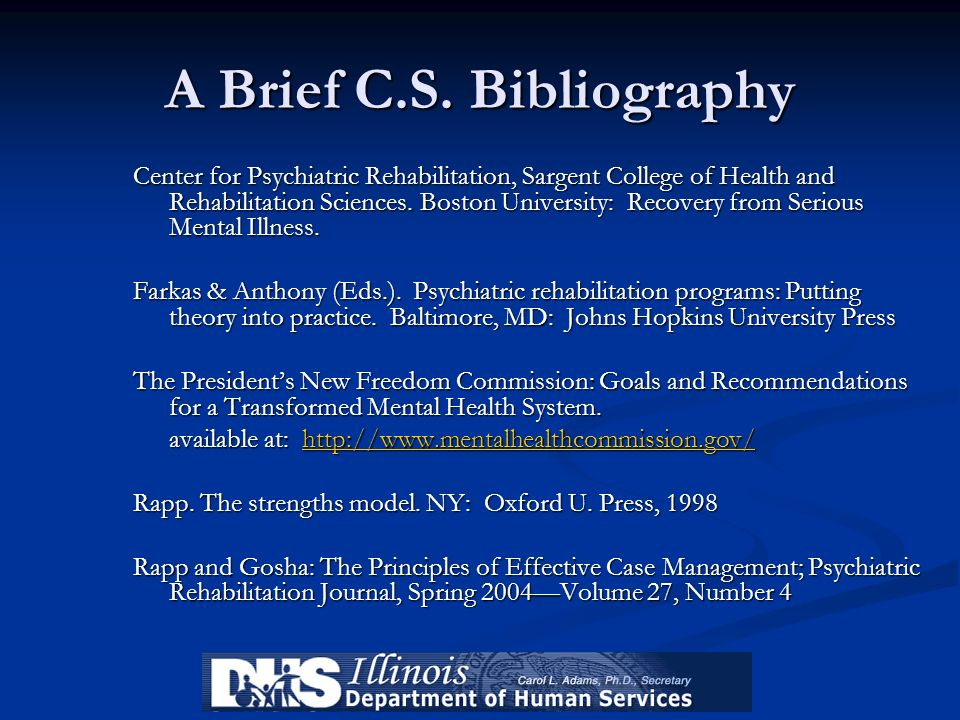 A Brief C.S. Bibliography