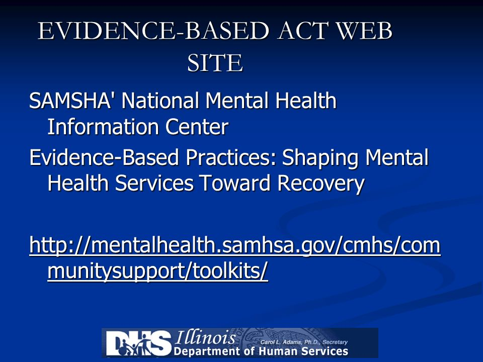 EVIDENCE-BASED ACT WEB SITE