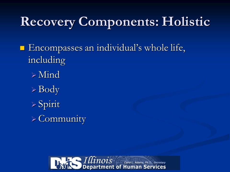 Recovery Components: Holistic