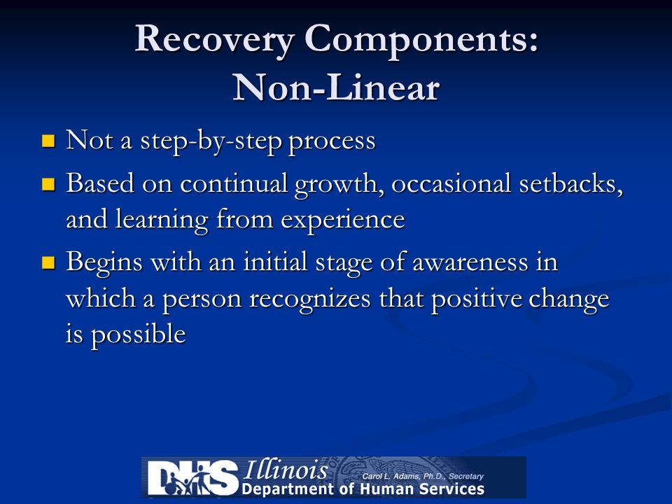 Recovery Components: Non-Linear
