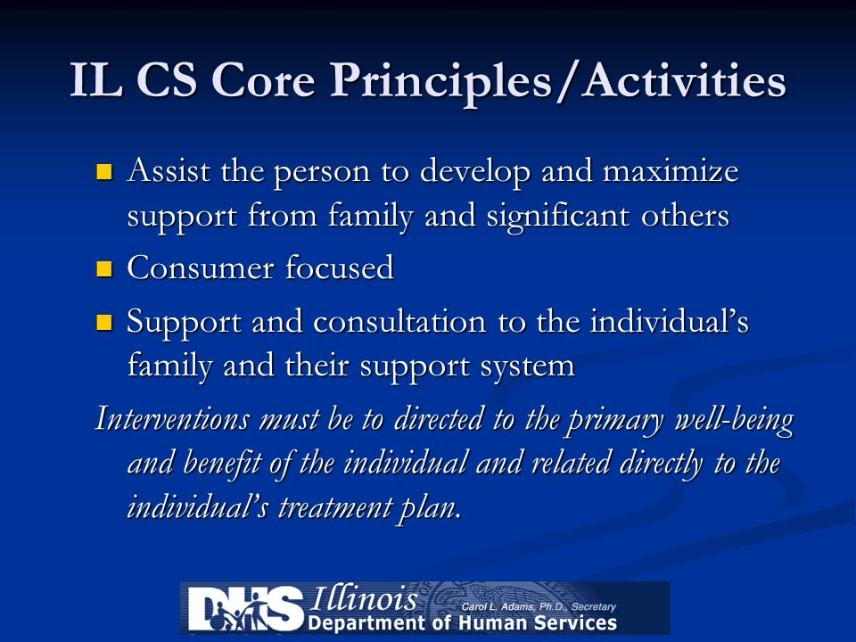 IL CS Core Principles/Activities