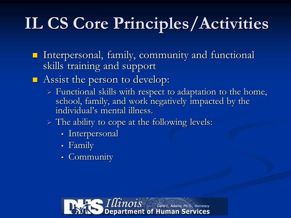 IL CS Core Principles/Activities