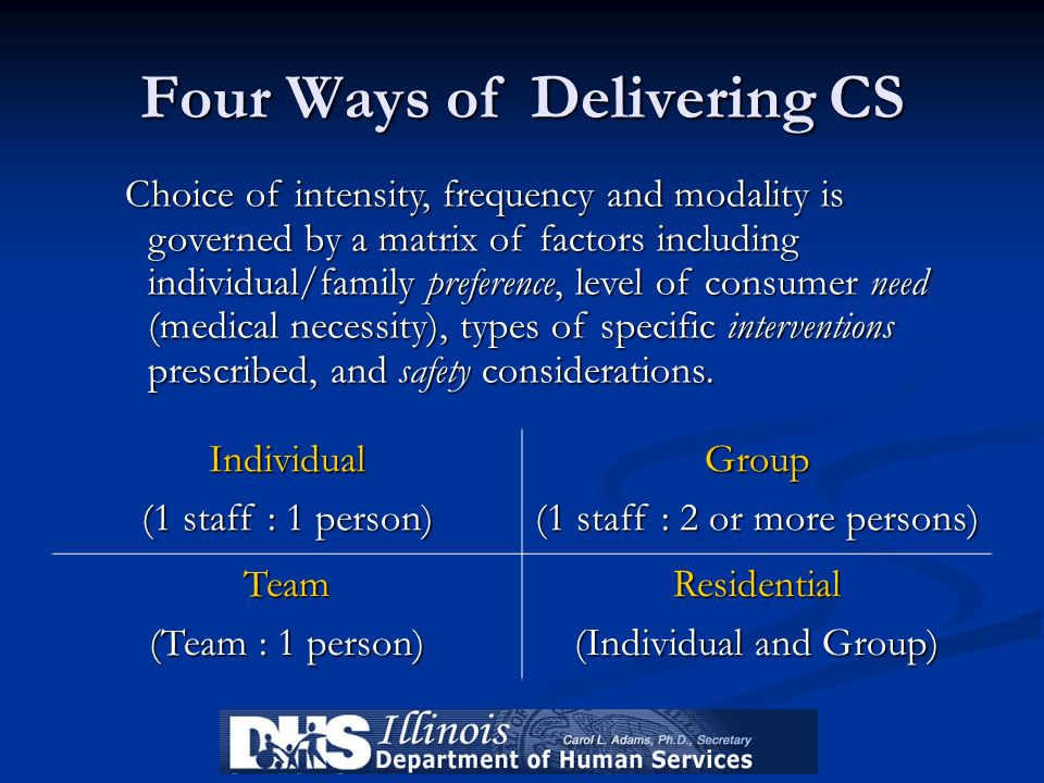 Four Ways of Delivering CS