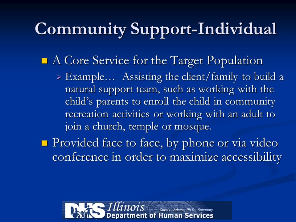 Community Support-Individual