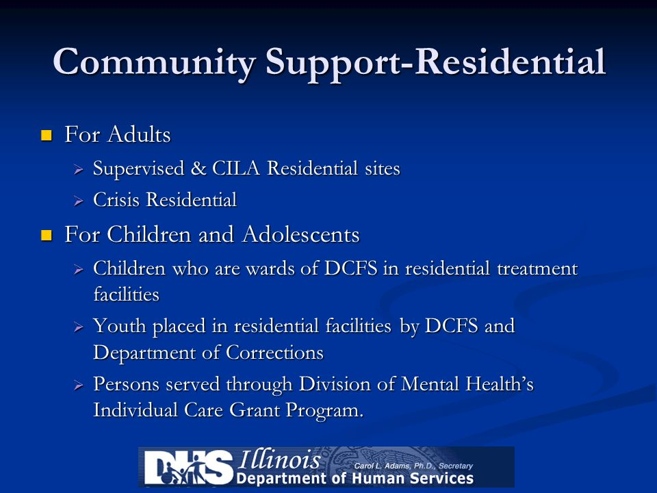 Community Support-Residential