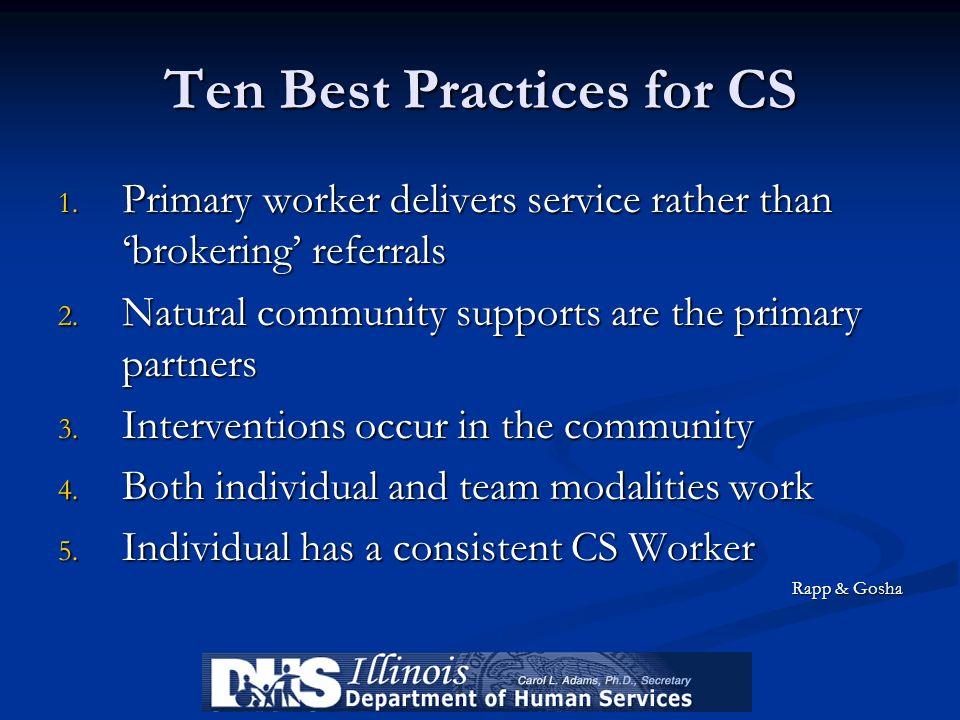 Ten Best Practices for CS