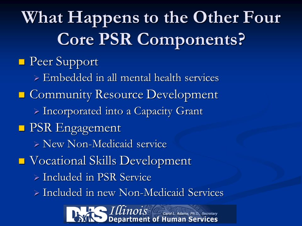 What Happens to the Other Four Core PSR Components