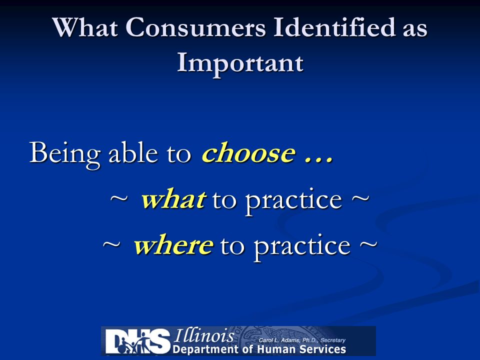 What Consumers Identified as Important