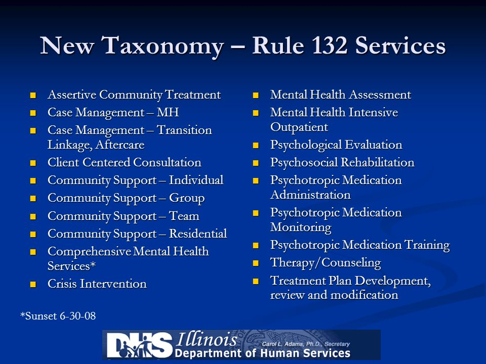 New Taxonomy – Rule 132 Services