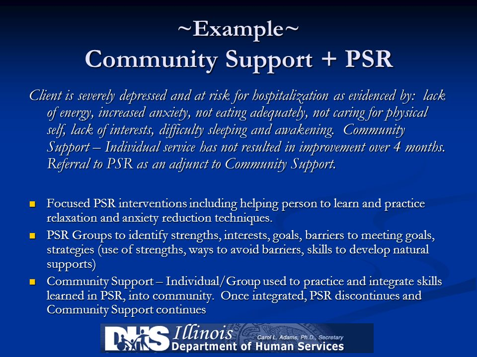 ~Example~ Community Support + PSR