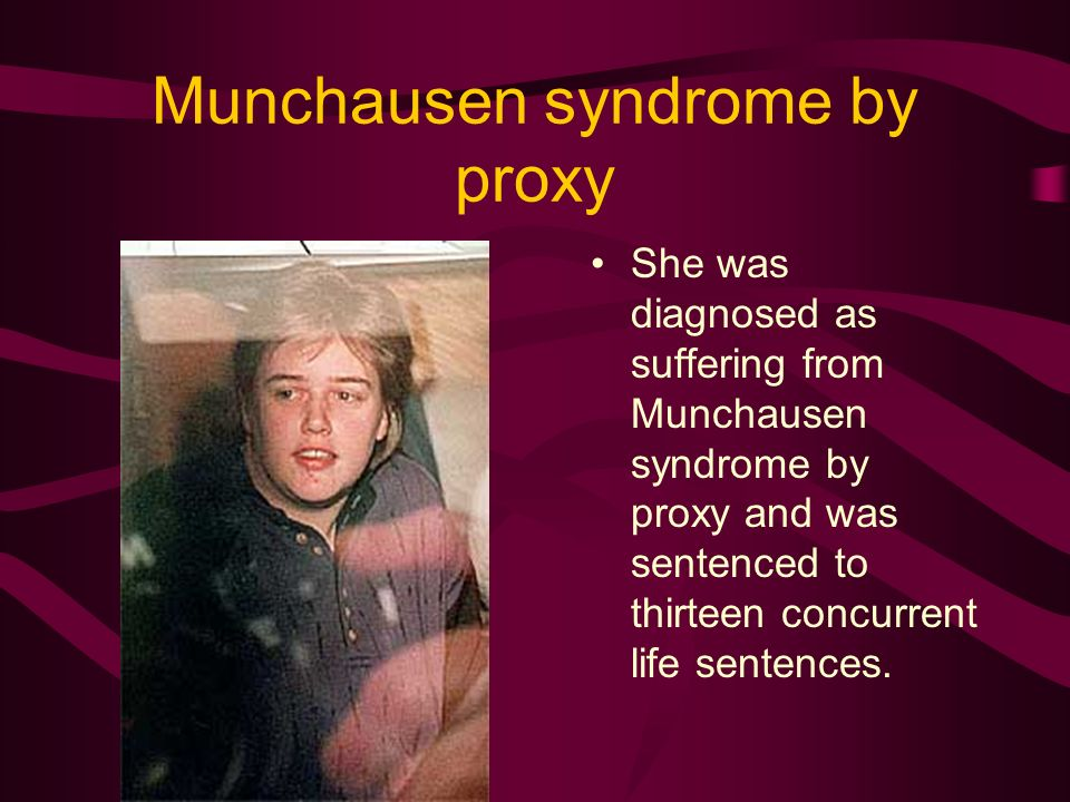 munchausen syndrome by proxy speech Munchausen syndrome by proxy (msbp) is emerging as a serious form  with  illness and using it as means of expression and communication.