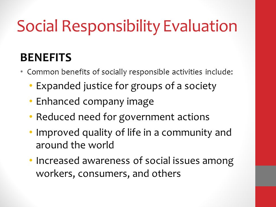 human behavior organization social responsibility Social responsibility is an ethical framework and suggests that an entity, be it an  organization or individual, has an obligation to act for the benefit of society at.