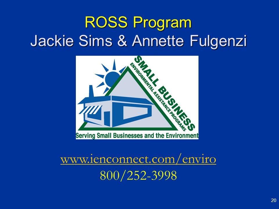 ROSS Program Jackie Sims & Annette Fulgenzi