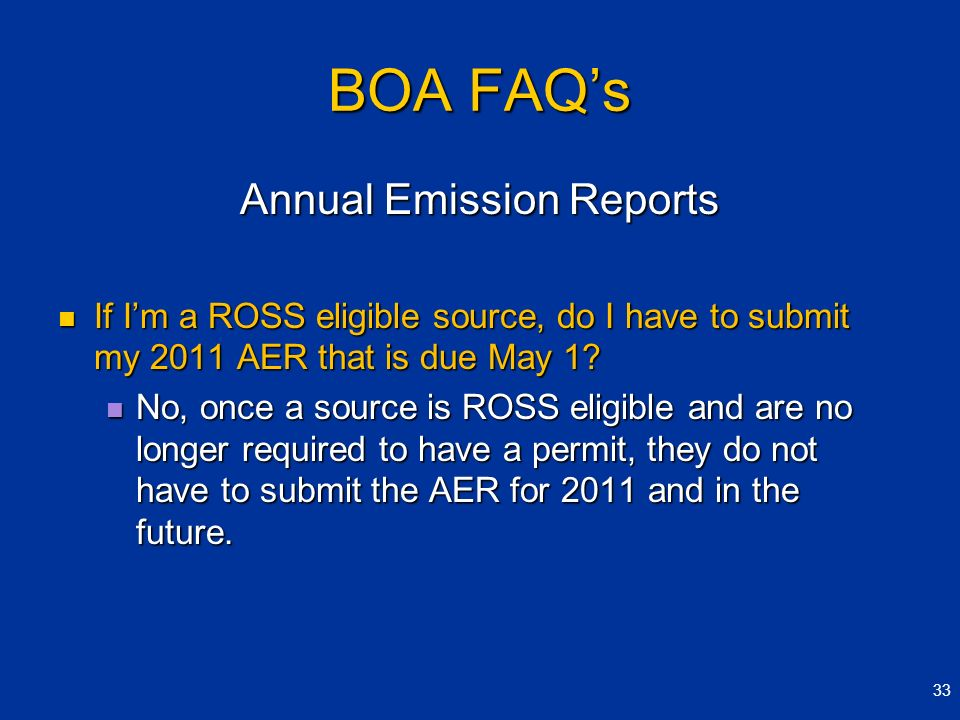 Annual Emission Reports