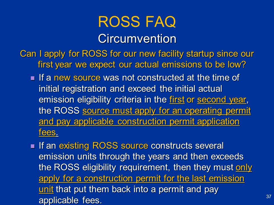 ROSS FAQ Circumvention