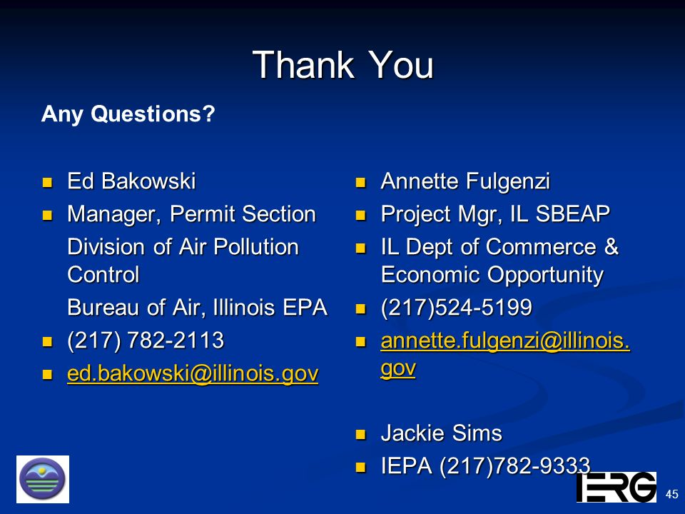 Thank You Any Questions Ed Bakowski Manager, Permit Section