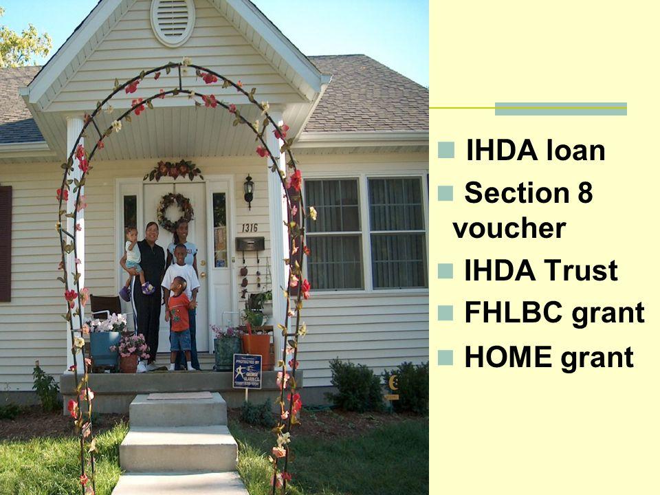 IHDA loan Section 8 voucher IHDA Trust FHLBC grant HOME grant