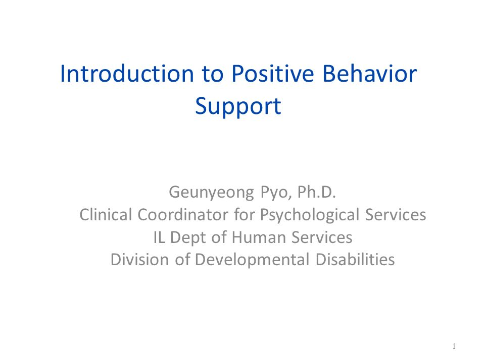 Introduction to Positive Behavior Support
