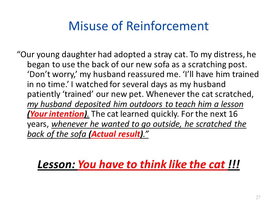 Misuse of Reinforcement