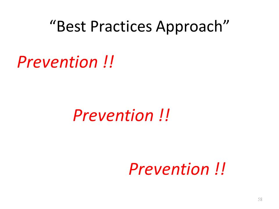 Best Practices Approach