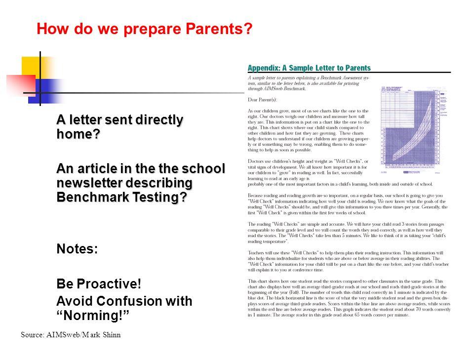 How do we prepare Parents