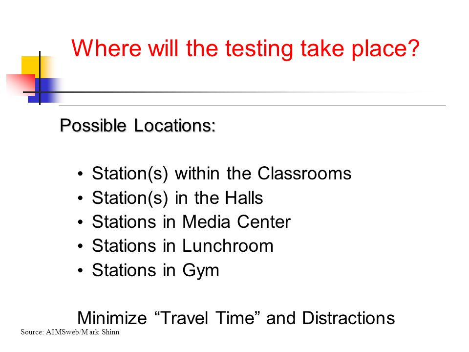 Where will the testing take place