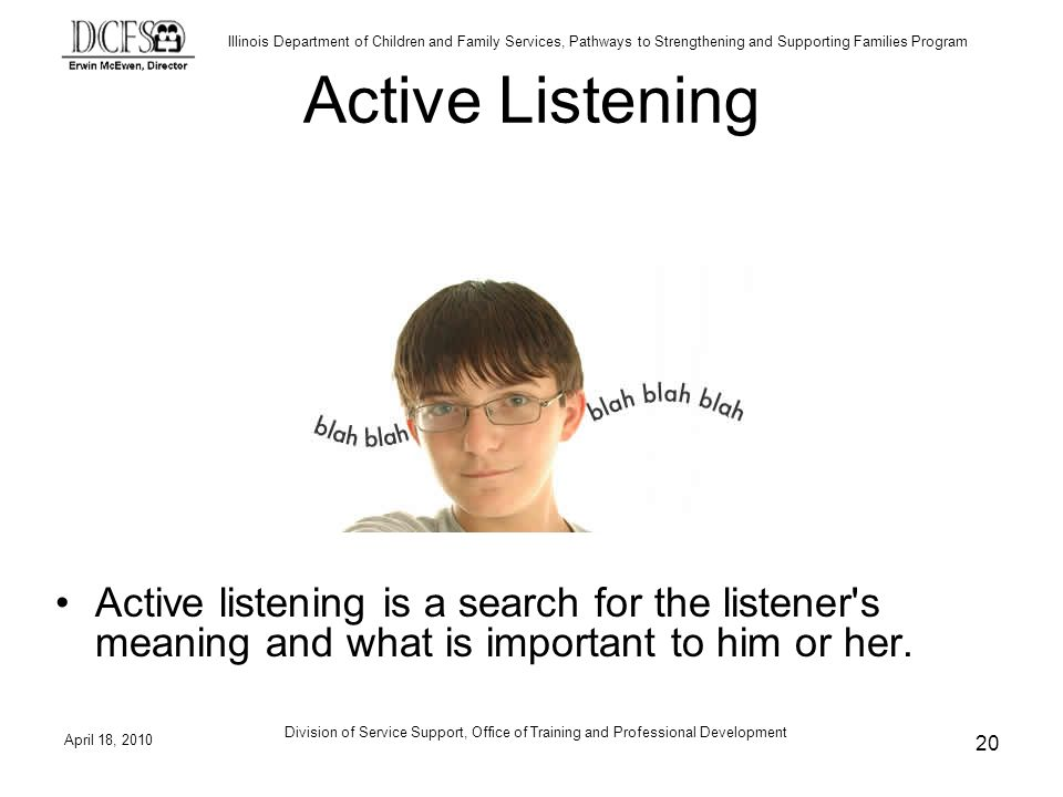 Active Listening Review Active Listening.