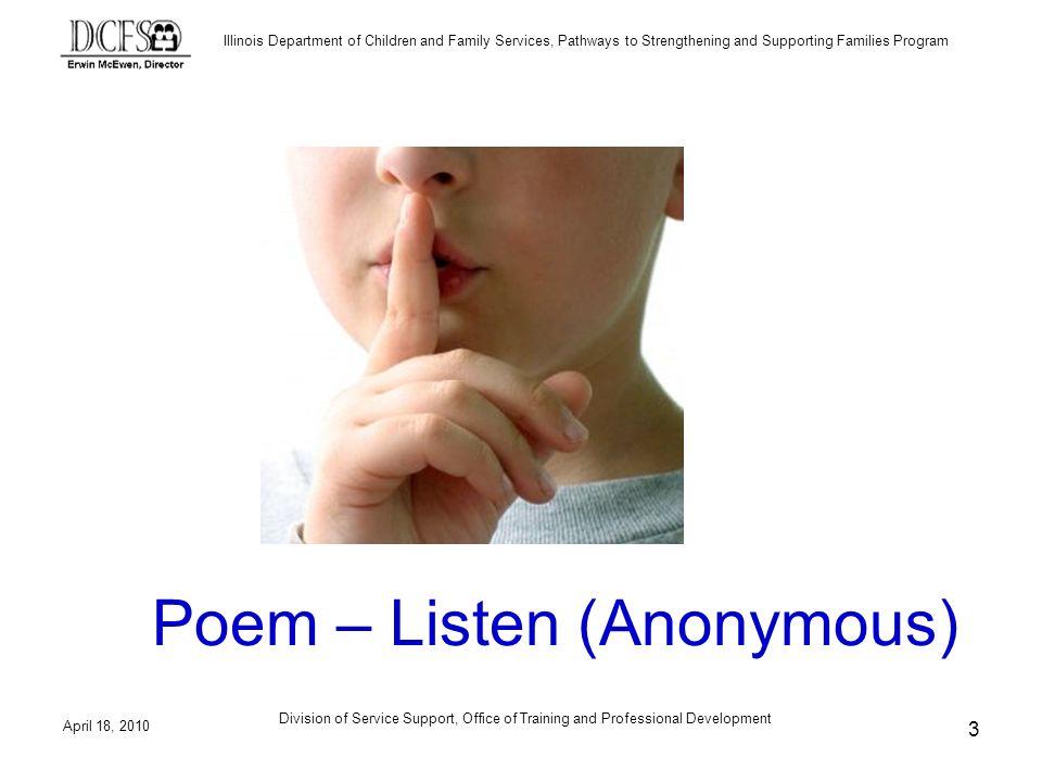 Poem – Listen (Anonymous)