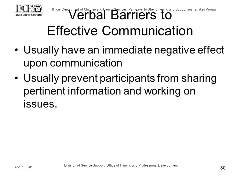 Verbal Barriers to Effective Communication