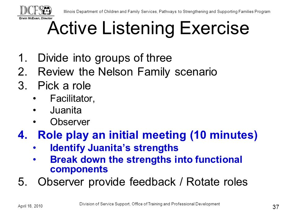 Active Listening Exercise