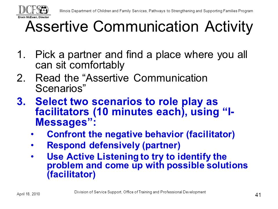 Assertive Communication Activity