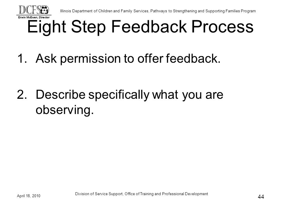 Eight Step Feedback Process