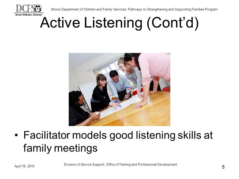 Active Listening (Cont'd)