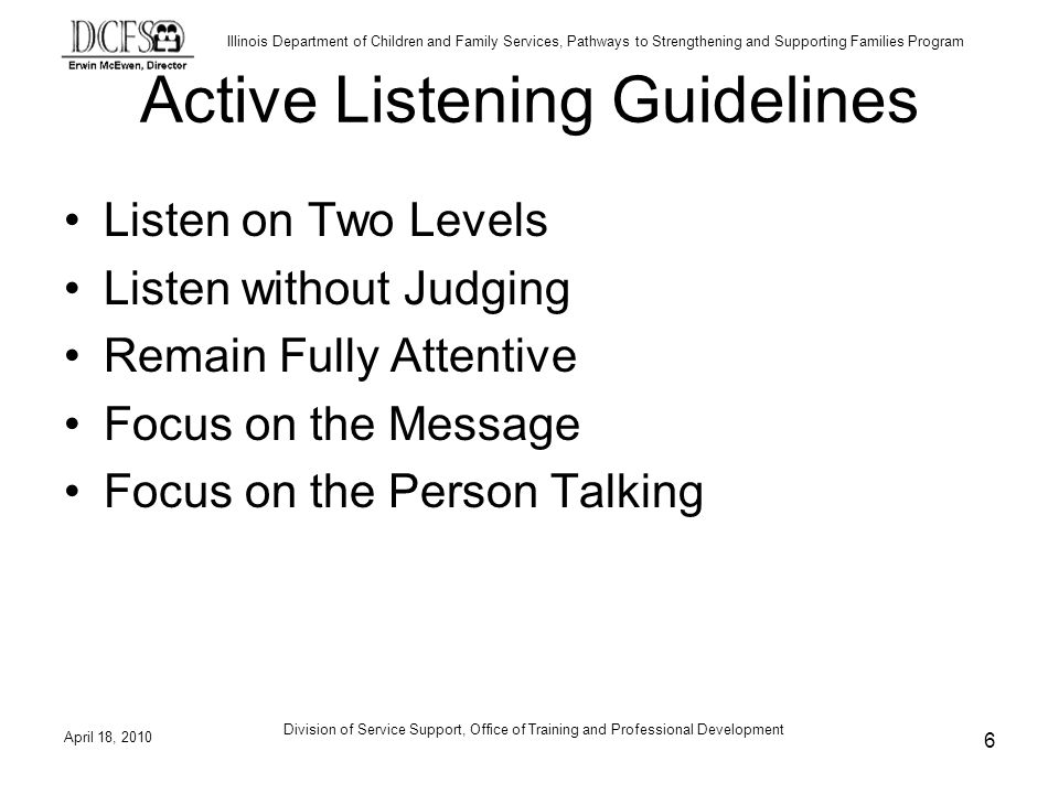 Active Listening Guidelines