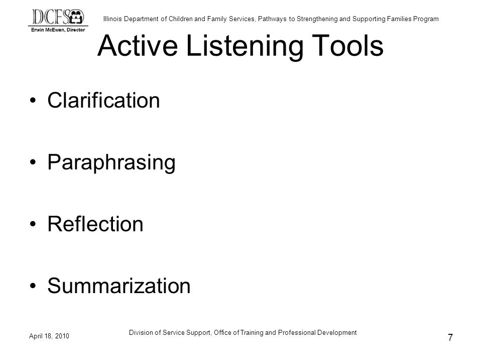 Active Listening Tools