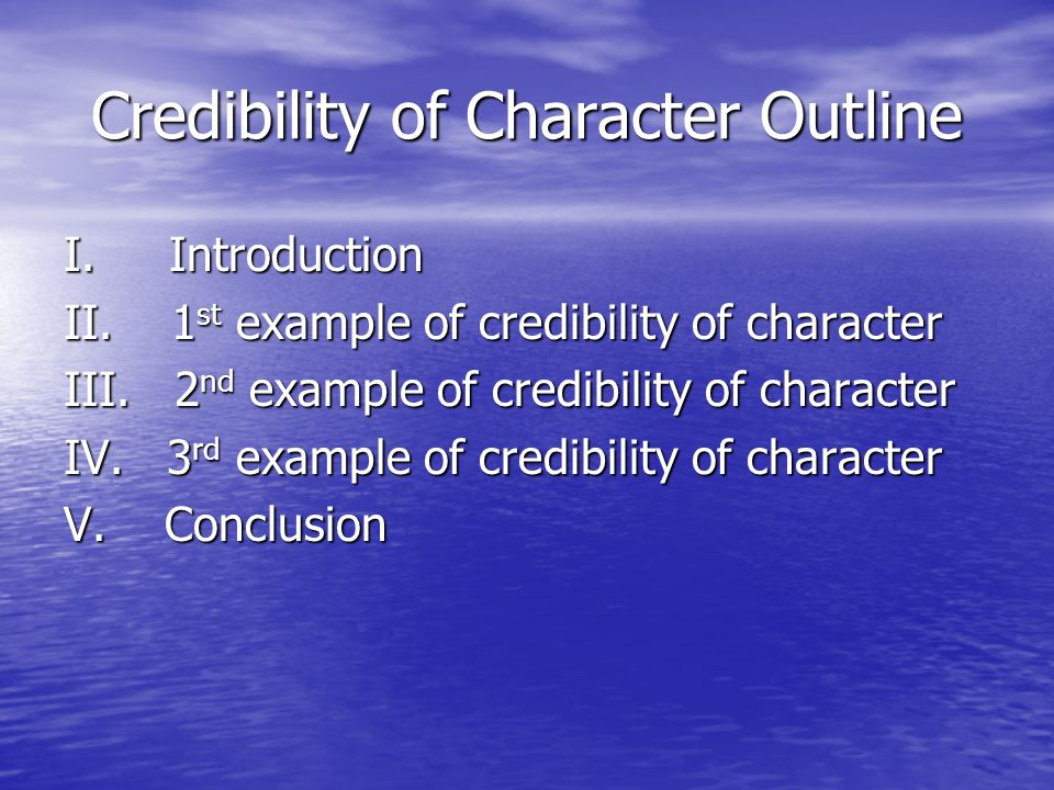 credibility of character