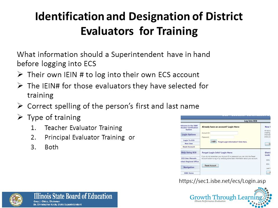 Identification and Designation of District Evaluators for Training