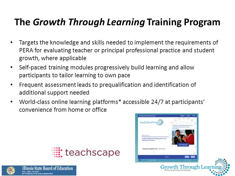 The Growth Through Learning Training Program