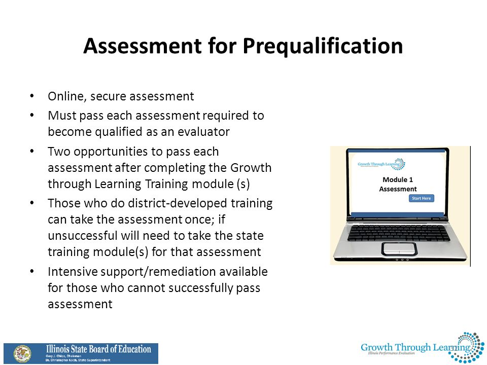 Assessment for Prequalification