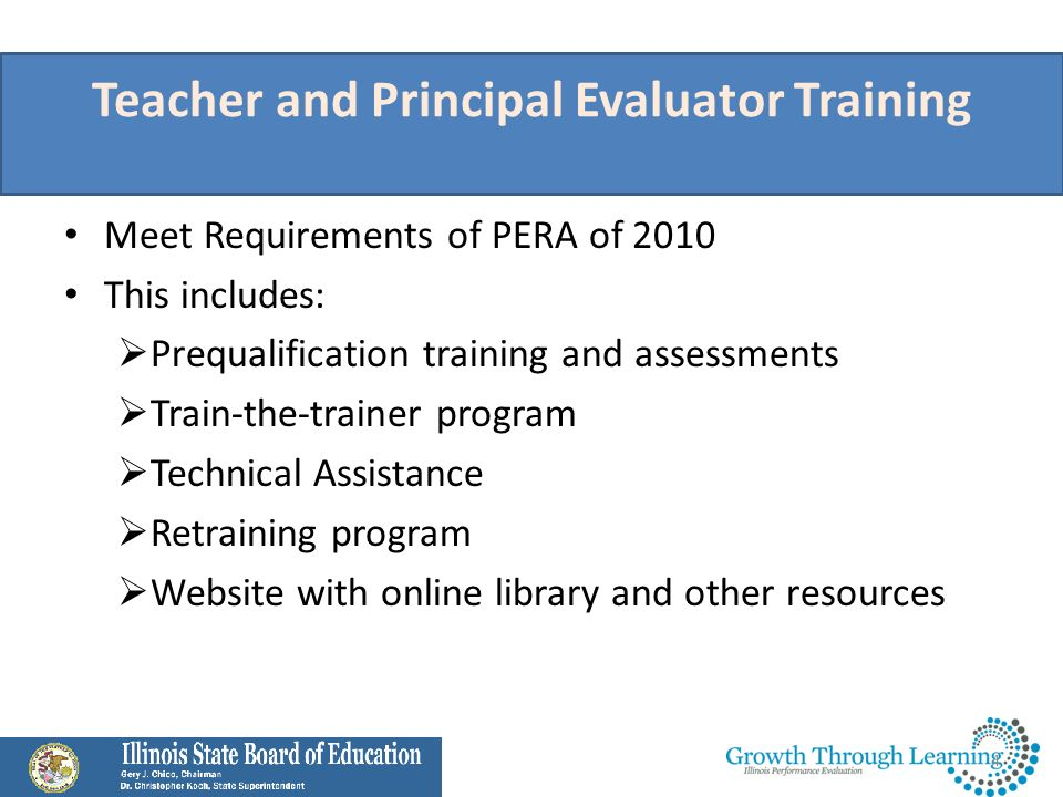Teacher and Principal Evaluator Training