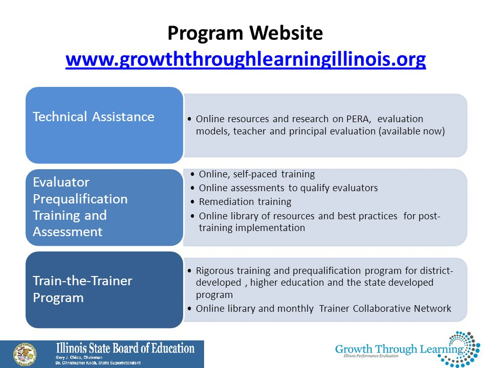 Program Website www.growththroughlearningillinois.org