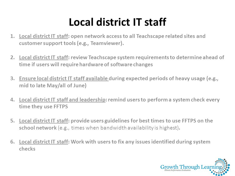 Local district IT staff